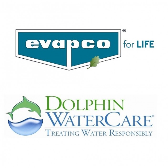 EVAPCO and Dolphin WaterCare logos